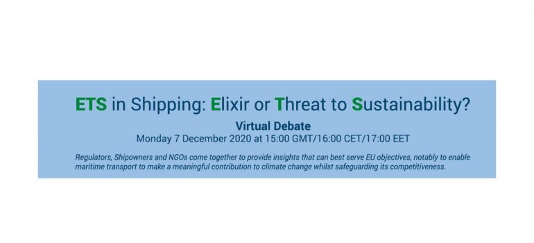 Virtual Debate – ETS in Shipping: Elixir or Threat to Sustainability?