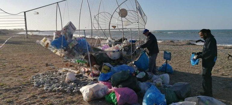 Τριακόσια σαράντα κιλά σκουπίδια από κατασκευή για ανακυκλώσιμα στη Γεροσκήπου