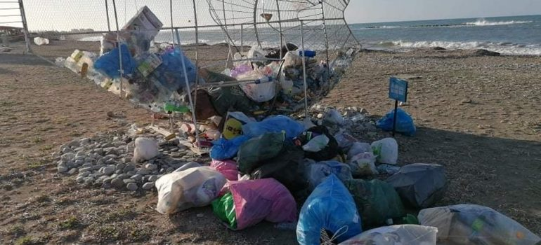 13032021_Τριακόσια σαράντα κιλά σκουπίδια από κατασκευή για ανακυκλώσιμα στη Γεροσκήπου